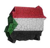 Carte du Soudan — Photo