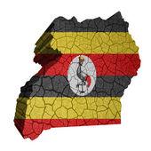 Mapa de uganda — Foto de Stock