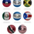 North America countries (From H to U) flag balls — Stock Photo #51036127