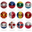 European countries (From L to P) flag balls — Stock Photo #51036241