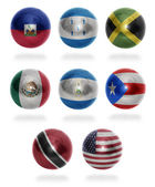 North America countries (From H to U) flag balls — Stock Photo