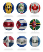 North America countries (From B to G) flag balls — Stock Photo