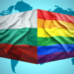 Waving Bulgarian and Gay flags — Stock Photo #51347305