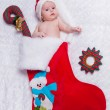 Stock Photo: Little newborn St. Nicholas in New Year