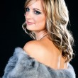 Stock Photo: Beautiful Womin Luxury Fur Coat.