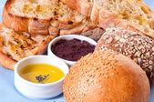ソースのパンの配置. — ストック写真