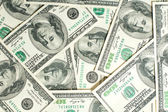 Background of one hundred dollar bills — Stock Photo