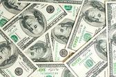 一百美元的钞票的背景 — 图库照片