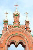 Kiev heilige bescherming holosiivska woestijn. oekraïens-orthodoxe kerk. — Stockfoto