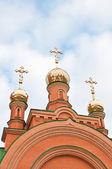 Kiev Holy Protection Holosiivska desert. Ukrainian Orthodox Chur — Stock Photo