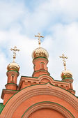 Kiev heilige bescherming holosiivska woestijn. oekraïens orthodoxe chur — Stockfoto
