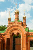 Kiev Holy Protection Holosiivska desert. Ukrainian Orthodox Chur — Stock Photo