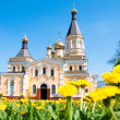 Kiev and religion. Holy Church of the Intercession on Solomenko. — Stock Photo