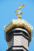 Kiev y religión. la cúpula de la iglesia santa de la intercessi — Foto de Stock