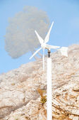 Wind powerstation - alternative energy source — Stock Photo