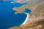 Panoramic bird's-eye view on Turkey, Oludeniz, Mediterranean — Stock Photo