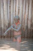 Dead Sea Mud bath Treatment — Stock Photo