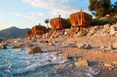 Vacation paradise, bungalow on the coast — Stock Photo