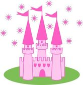 Pink castle — Stock Vector