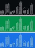 City skyline header banner — Stock Photo