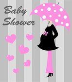 Baby shower girl — Stock Vector