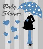 Baby shower boy — Stock Vector