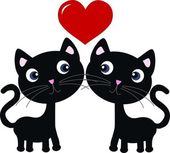Two sweet cats in love — Stockvector