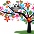 Royalty-Free Stock Vector: Two birds in a tree