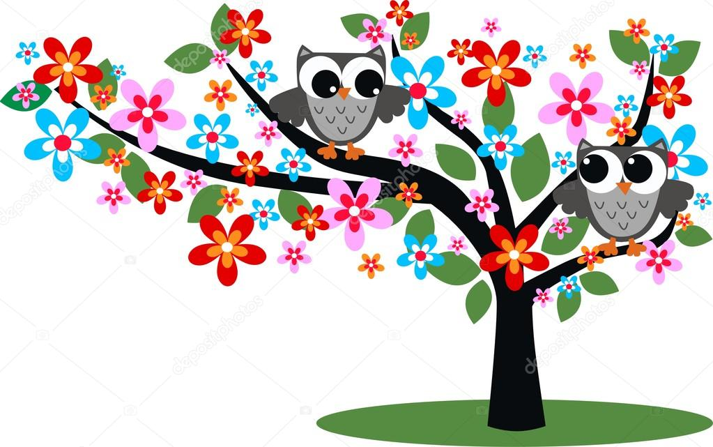 Two birds in a tree  — Stock Vector #13216708