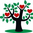 Love tree growth — Stock Vector