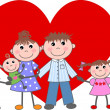 Valentines day love family — Stock Vector