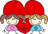 Amicizia amore san valentino — Vettoriale Stock
