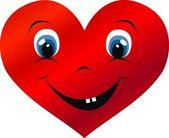 A big smiling heart — Stock Vector