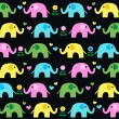 Seamless elephant pattern background — Stock Vector #18801567
