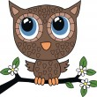 A sweet little brown owl — Stock Vector #19585105