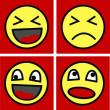 Vector de stock : Funny faces