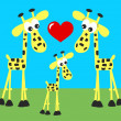 Sweet giraffes love — Stock Vector