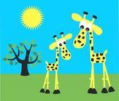 Sweet giraffes love — Stock Vector