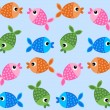 Seamless pattern background fish fishes — Stock Vector