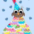 Stockfoto: Happy birthday or baby shower boy