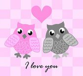 Love owls — Stock Vector