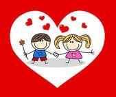 Alla hjärtans dag eller andra kärlek fest — Stockfoto