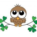 A sweet little brown owl — Stock Vector #51337709