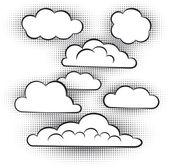Vector set of clouds — Stock Vector