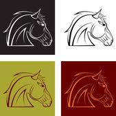 A horse's head — Stock Vector