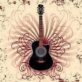 Acoustic guitar — Stock Vector