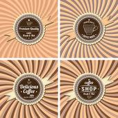 Kahve için Etiketler — Stok Vektör