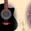 Background with guitar — Stock Vector #36595499