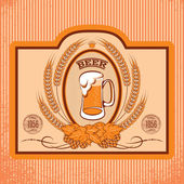 Oval labels for beer — Stock Vector