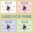 Labels for wine — Stock Vector